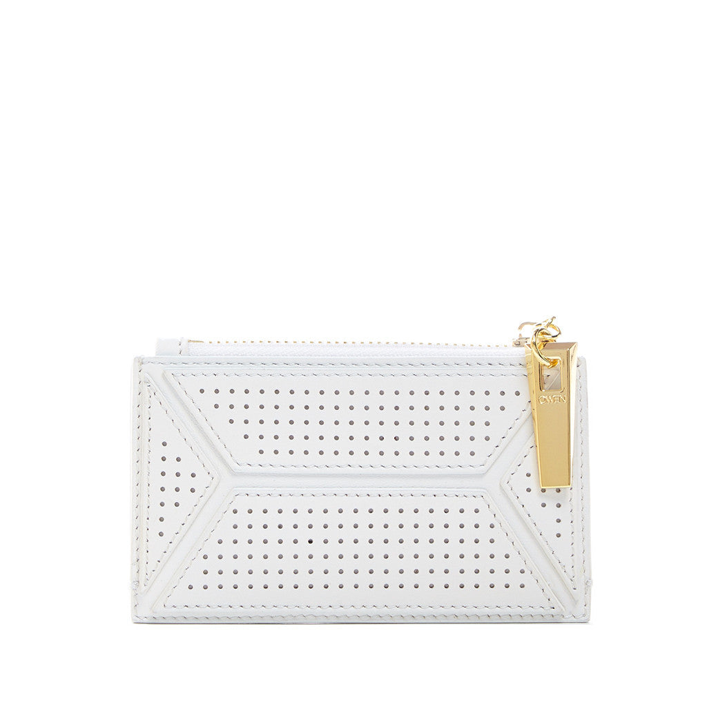THE OWEN WALLET  <br/> WHITE PERFORATED