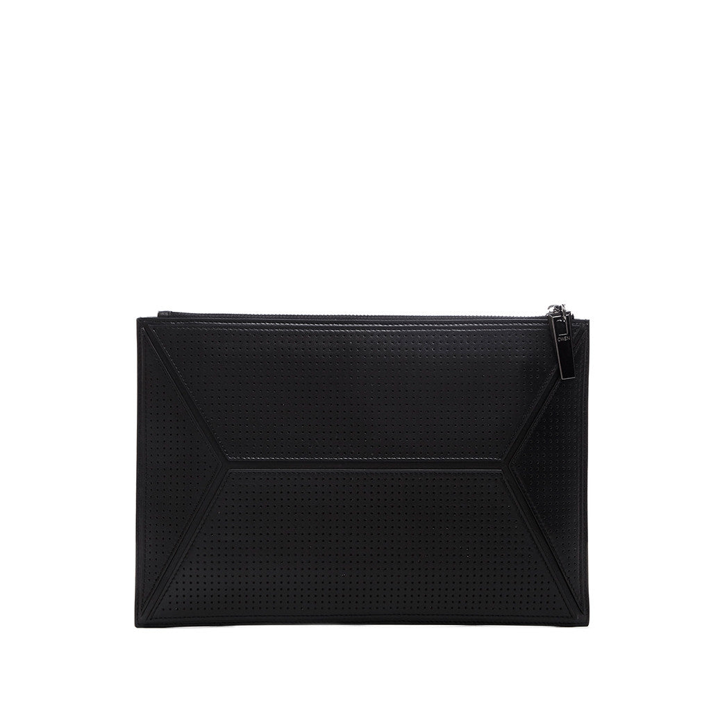 THE OWEN POUCH  <br/> BLACK PERFORATED