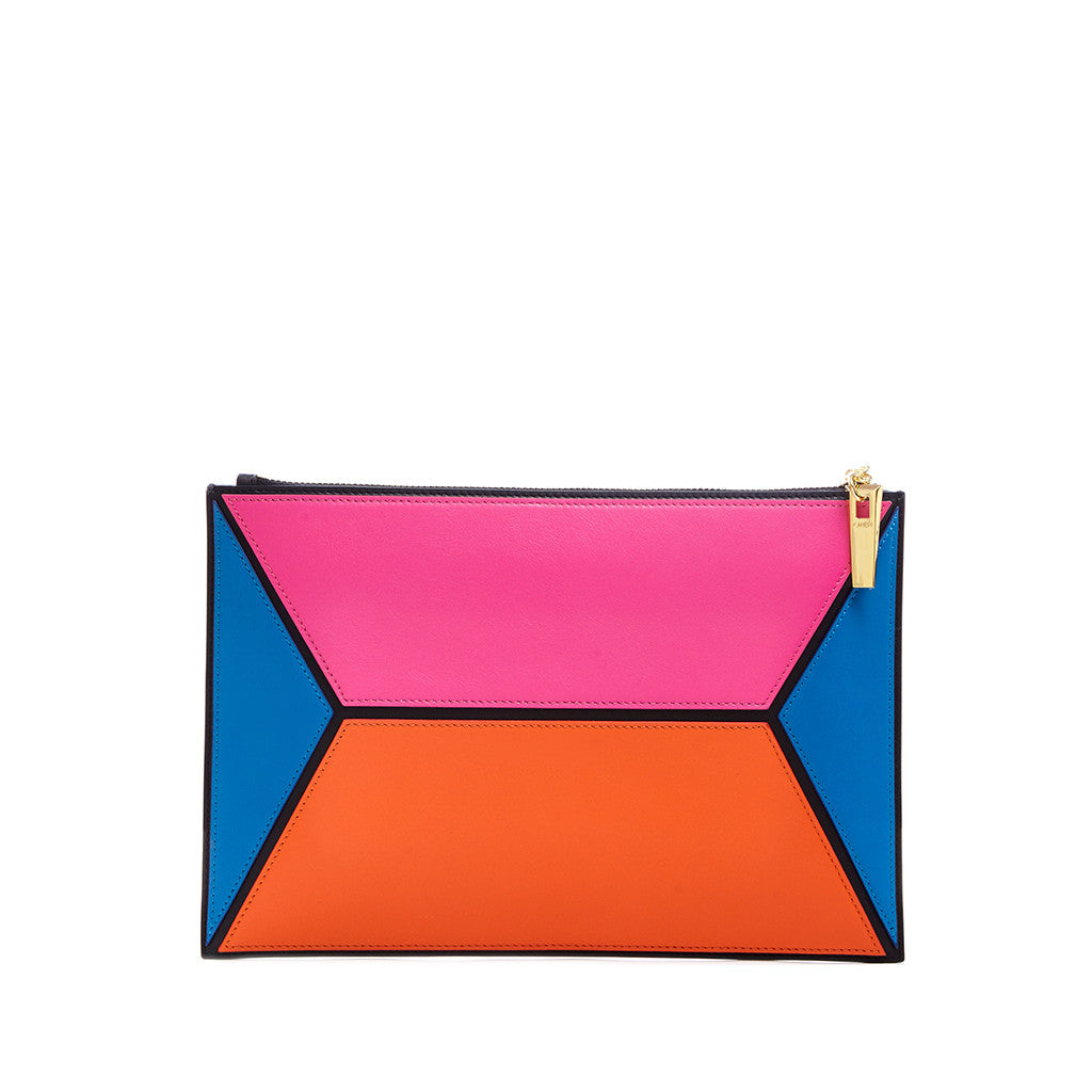 THE OWEN POUCH  <br/> BRIGHT PINK COLOR BLOCK