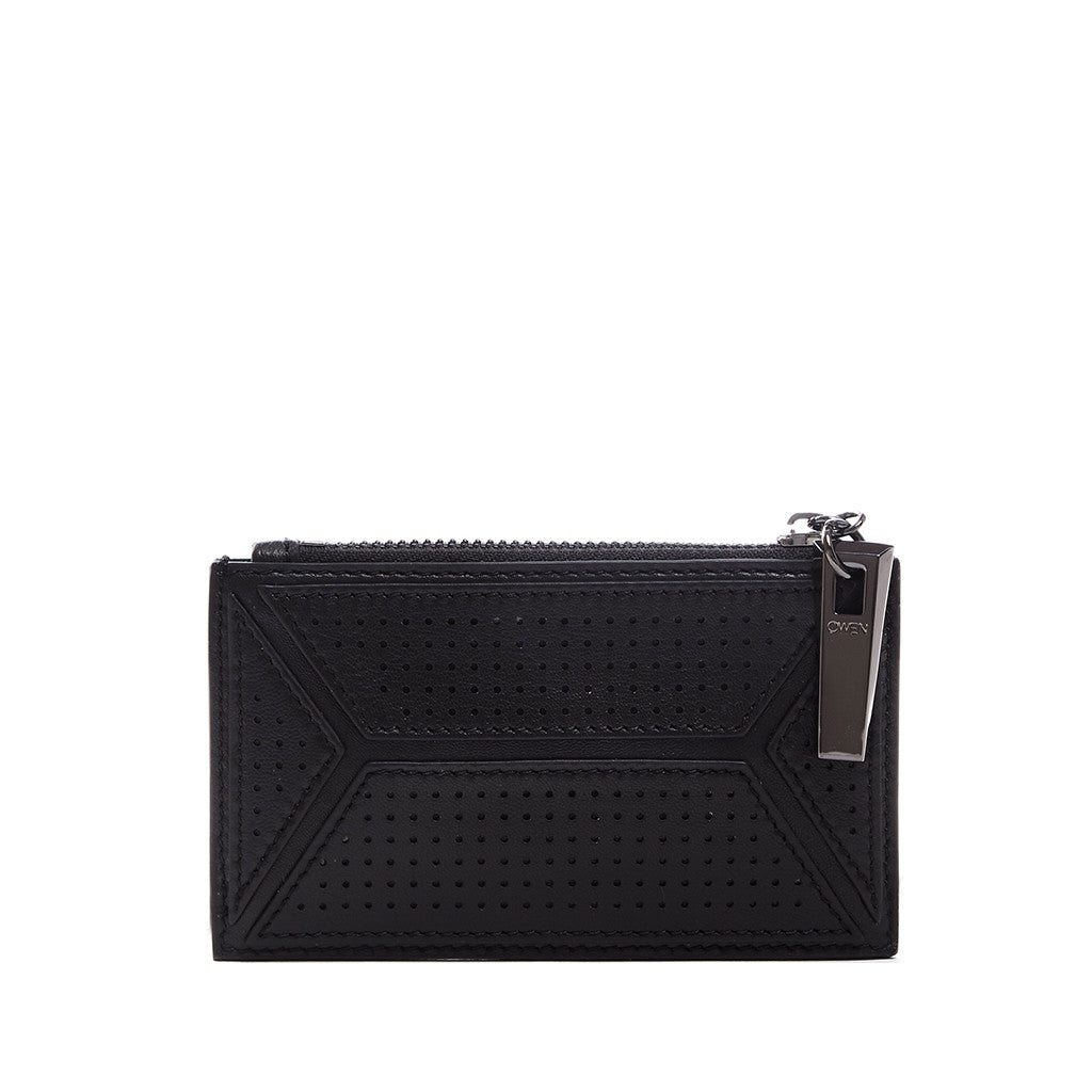 THE OWEN WALLET  <br/> BLACK PERFORATED