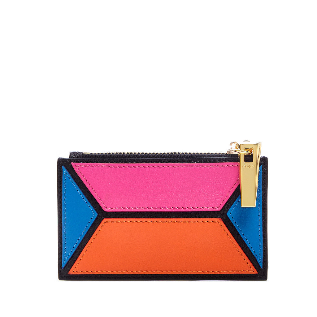 THE OWEN WALLET  <br/> PINK COLOR BLOCK