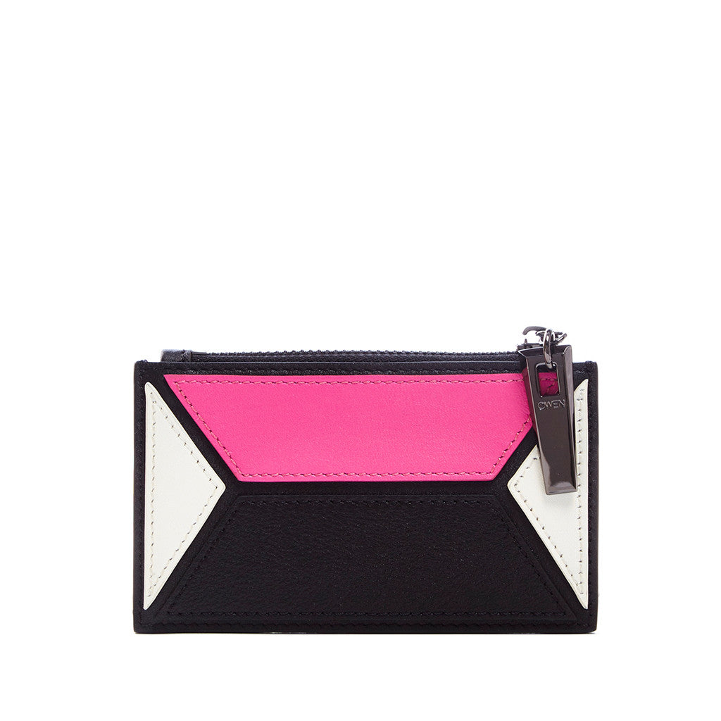 THE OWEN WALLET  <br/> PINK & WHITE COLOR BLOCK