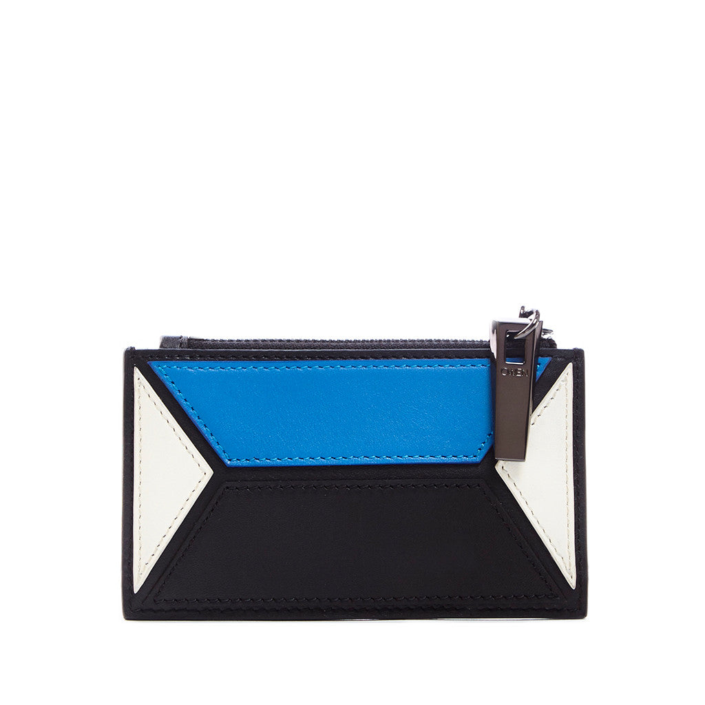 THE OWEN WALLET  <br/> BLUE & WHITE COLORBLOCK