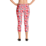 Fourth of July Special Edition Light Red Capri Mommy Leggings - Jolly Dragons