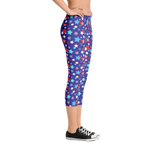 Fourth of July Special Edition Dark Blue Capri Leggings - Jolly Dragons
