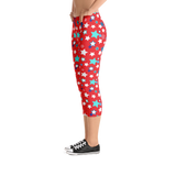 Fourth of July Special Edition Red Capri Leggings - Jolly Dragons