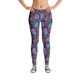 Flowers in Blue Mommy Leggings - Jolly Dragons