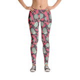 Flowers in Grey Leggings - Jolly Dragons