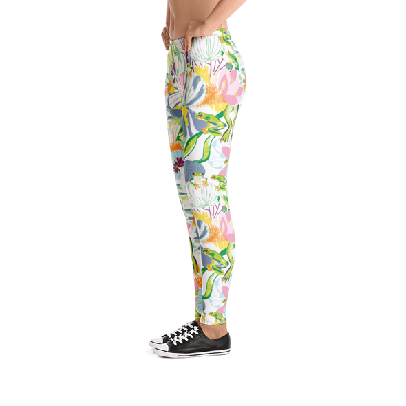 Frogs on the Pond Leggings - Jolly Dragons