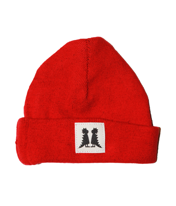 Organic Newborn Red Beanie - Jolly Dragons