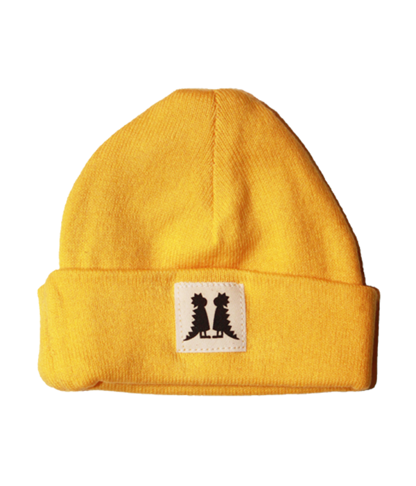 Organic Newborn Yellow Beanie - Jolly Dragons