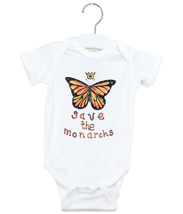 Organic Save the Monarchs Bodysuit - Jolly Dragons