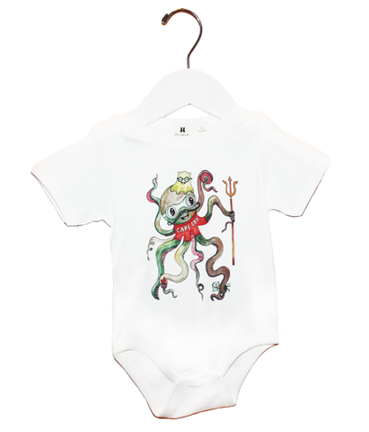 Organic Octopus Bodysuit - Jolly Dragons