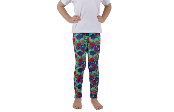 Roses Red Kids Leggings - Jolly Dragons