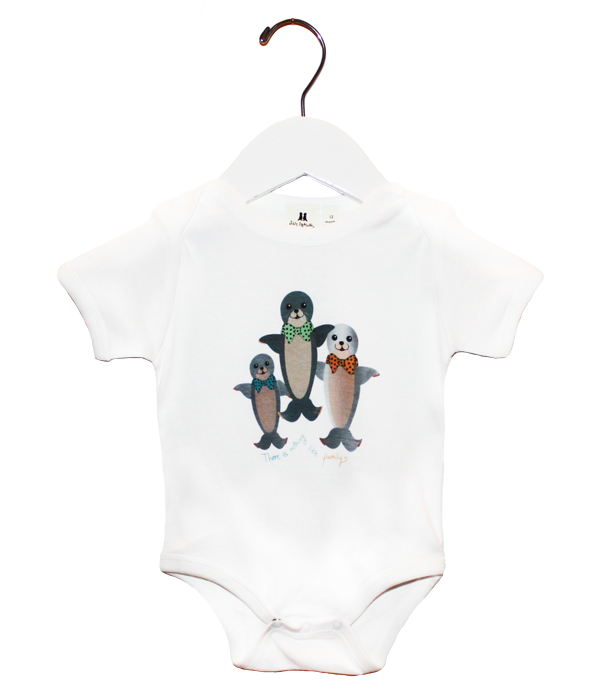 Organic Seals Bodysuit - Jolly Dragons