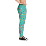 Turquoise Seal Mommy Leggings - Jolly Dragons