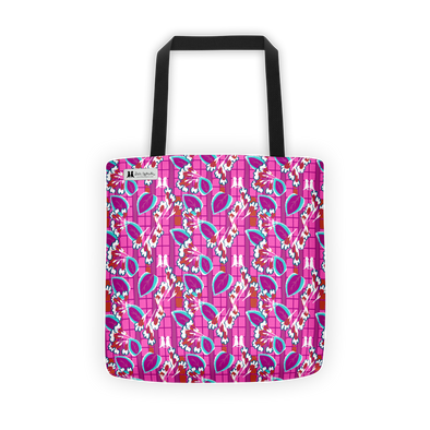 Pink Art Deco Tote - Jolly Dragons