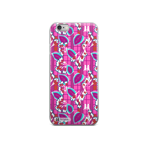 Pink Art Deco iPhone 5/5s/Se, 6/6s, 6/6s Plus Case - Jolly Dragons