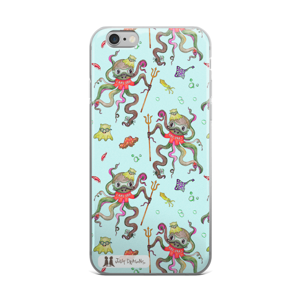 Octopus Blue iPhone 6/6s, 6/6s Plus Case - Jolly Dragons