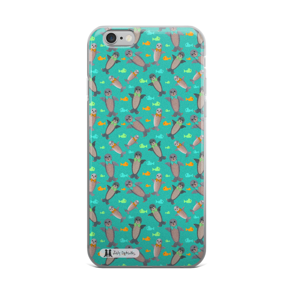 Turquoise Seal iPhone 6/6s, 6/6s Plus Case - Jolly Dragons