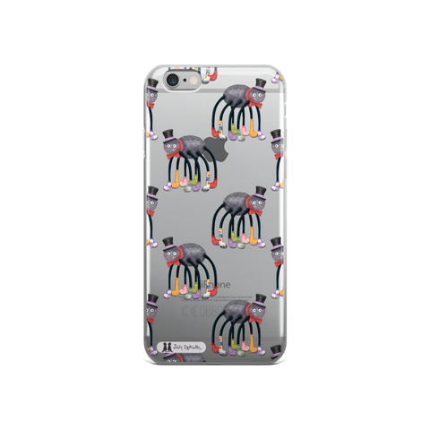 See Through Jolly Dragons Spider iPhone Case