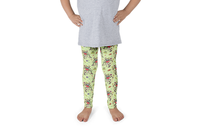 Green Octopus Kids Leggings - Jolly Dragons