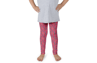 Fuchsia Seal Kids Leggings - Jolly Dragons