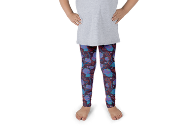 Flowers in Blue Kids Leggings - Jolly Dragons