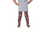 Flowers in Orange Kids Leggings - Jolly Dragons