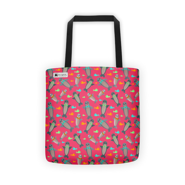 Fuchsia Seal Tote - Jolly Dragons