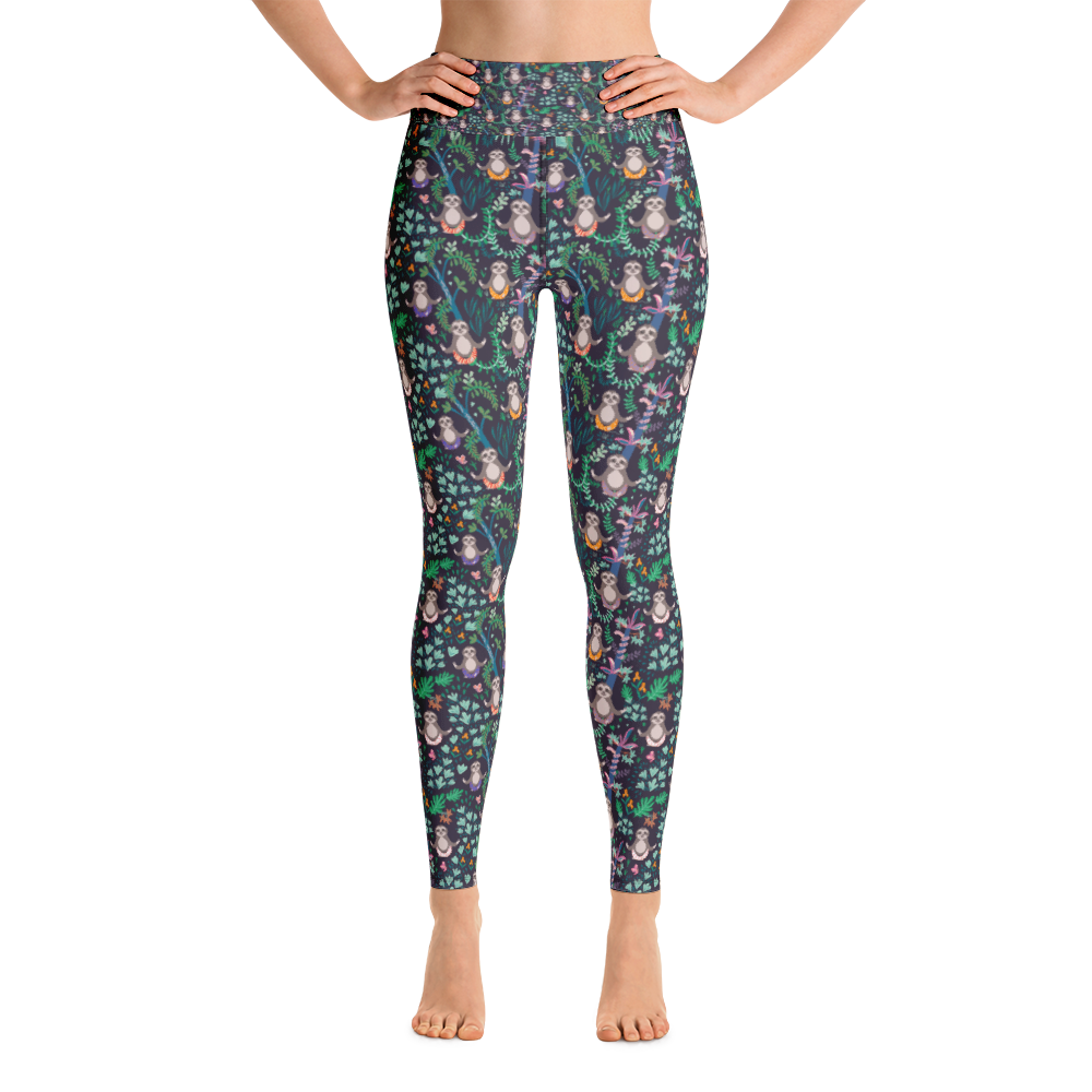 Sloth Dark Woman Yoga Pants - Jolly Dragons