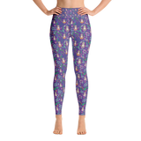 Sloths Purple Woman Yoga Pants - Jolly Dragons