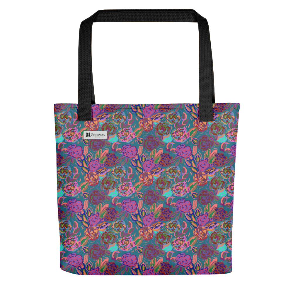 Roses Pink Tote - Jolly Dragons