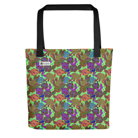 Roses Green Tote - Jolly Dragons