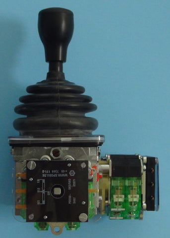 Side view of two-axis Spohn and Burkhardt VNSO master switch with wire wound potentiometers