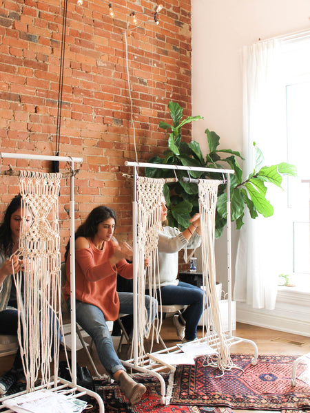 Kindred Loft Macrame Wall Hanging Workshop - March 3, 2018