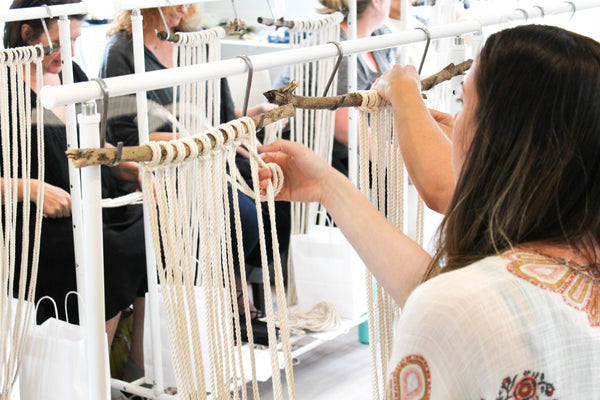 West Elm Macrame Wall Hanging Workshop - February 24, 2018