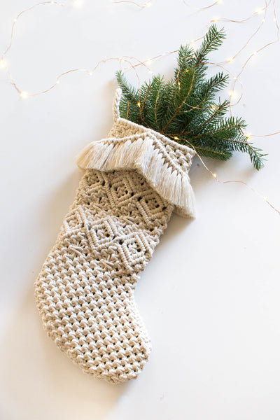 Macrame Stocking I