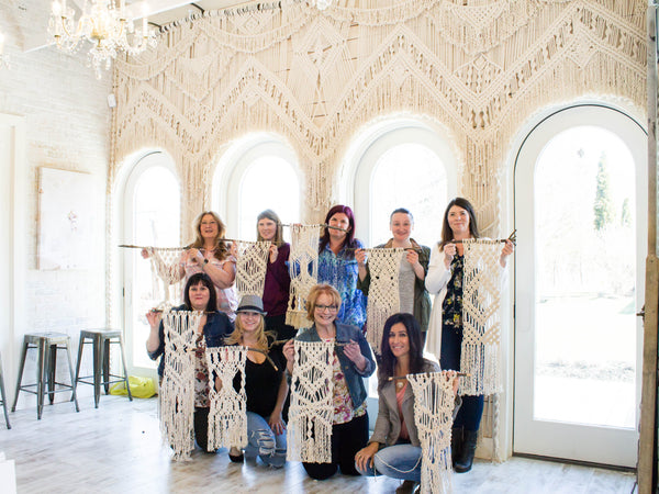 The Beauty Barn Macrame Wall Hanging Workshop - November 13, 2018