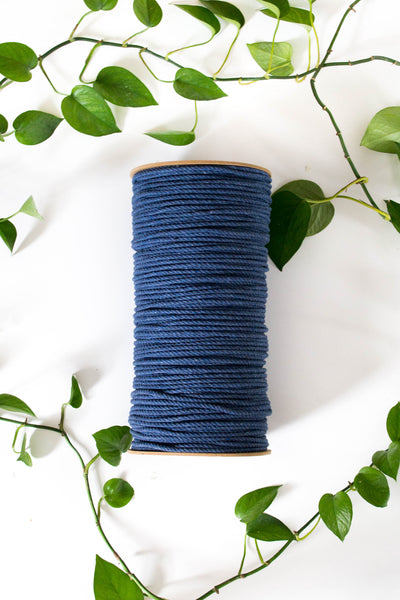 5mm Cotton 3 Strand Rope