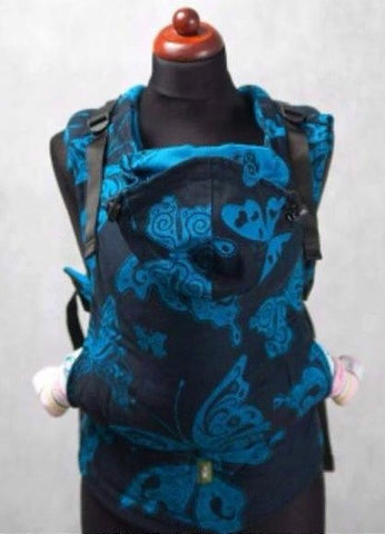LennyLamb Jacquard Weave Carrier - Night Butterfly REVERSE (100% cotton)