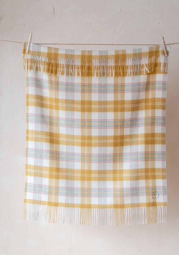 LAMBSWOOL BABY BLANKET - super soft check