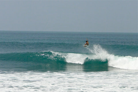 Jasper surfing in Sri Lanka
