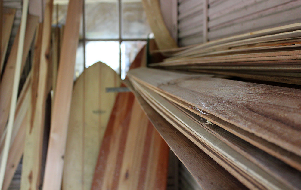 Raw and sustainably sourced timber planks