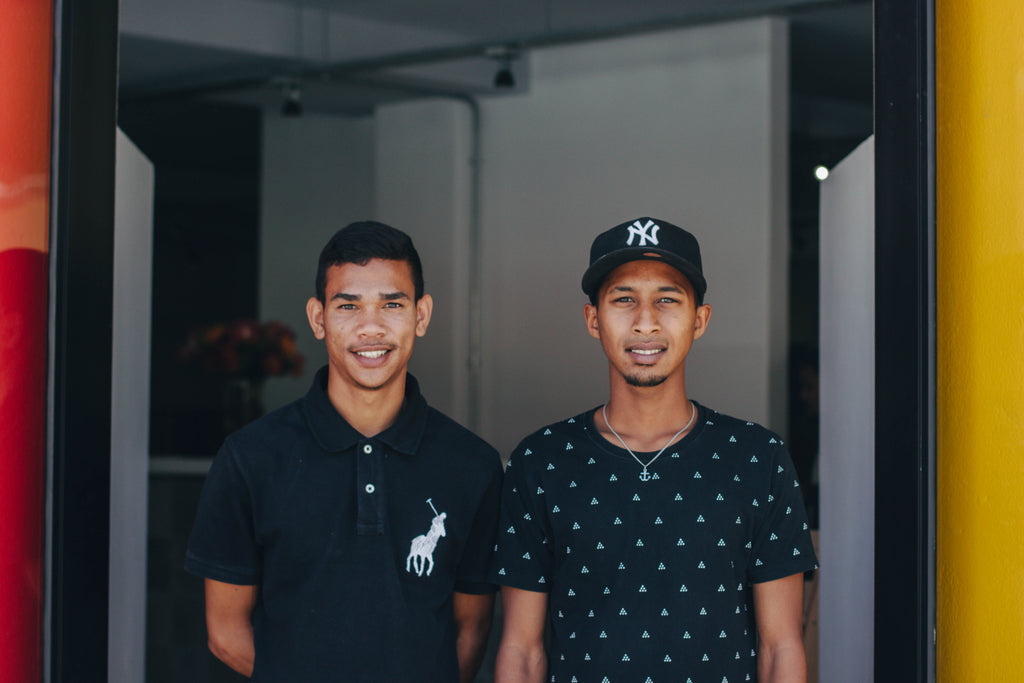 Two staff members from the new shop in Bo-Kaap