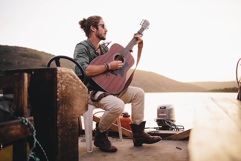 Sealand Gear Ambassador Jeremy Loops playing guitar and singing