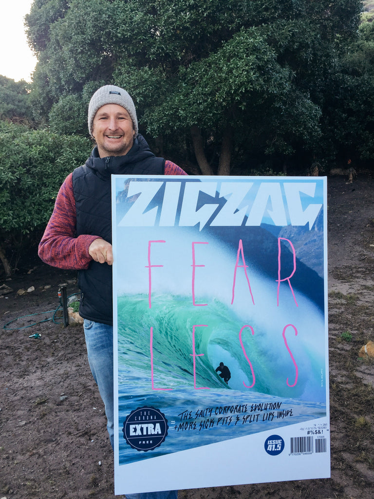Sealand Gear Co-Founder Mike Schlebach holding Zigzag cover