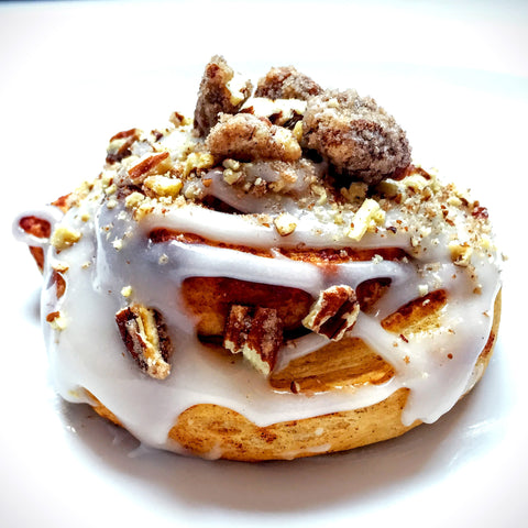Candied Pecan Cinnamon Roll