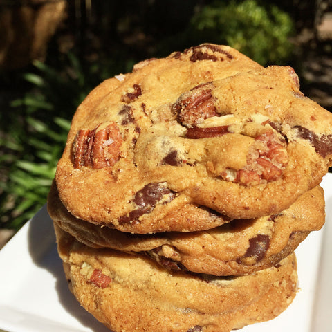Candied Pecan Chocolate Chunk Cookies