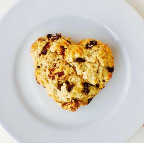 Candied Pecan chocolate cherry scones